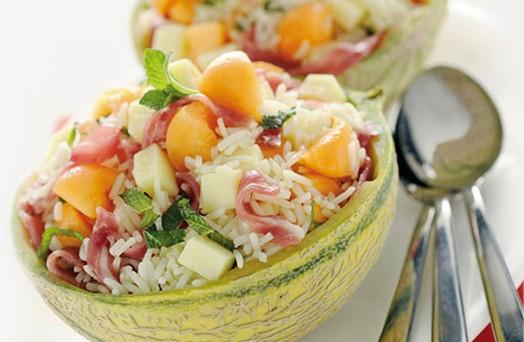insalata riso e melone